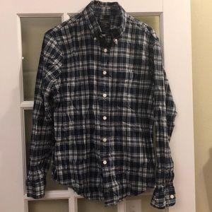 Abercrombie blue plaid madras shirt